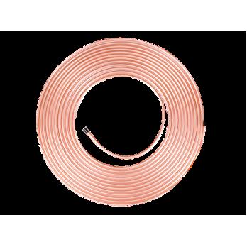 Медная труба для кондиционеров  1/4 дюйма  (6.35 / 0.76mm)/50м